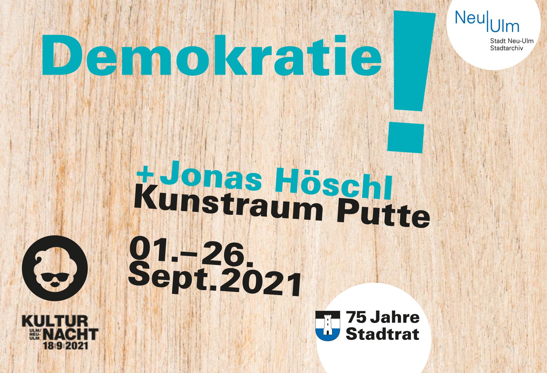 """Flyer """"Demokratie! 75 Jahre Stadtrat Neu-Ulm"""""""